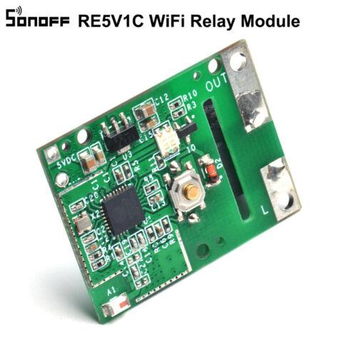 SONOFF RE5V1C 5V WIFI Zoll Selflock Relaismodul Hand Make Tool Panel Smart