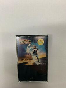 Back-to-the-Future-Soundtrack-Cassette-Tape-1985-Rare-blank-black-cover-insert