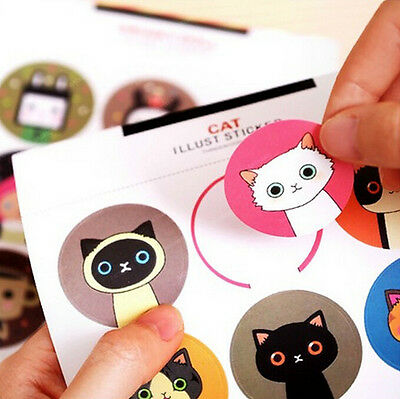 Cat Rabbit Stickers Seals Labels for Gift Box Soap Craft Baking Cookie Decor