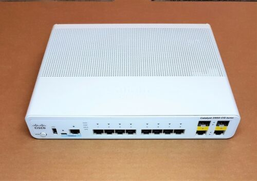 CISCO Catalyst WSC2960CG8TCL SERIES 10 PORT SWITCH
