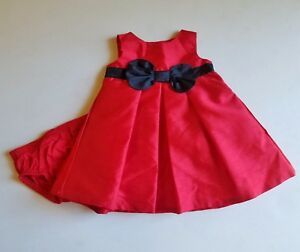 f45a2d00c Girls JOY by CARTER S red black Christmas party dress 3M 3 monts 0-3 ...
