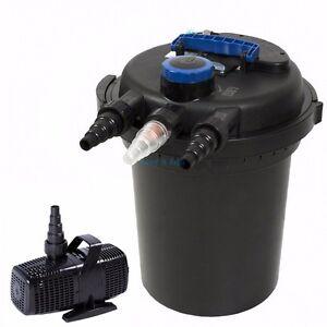 4000 gal pond filter w 13w uv sterilizer koi easy for Simple pond pump
