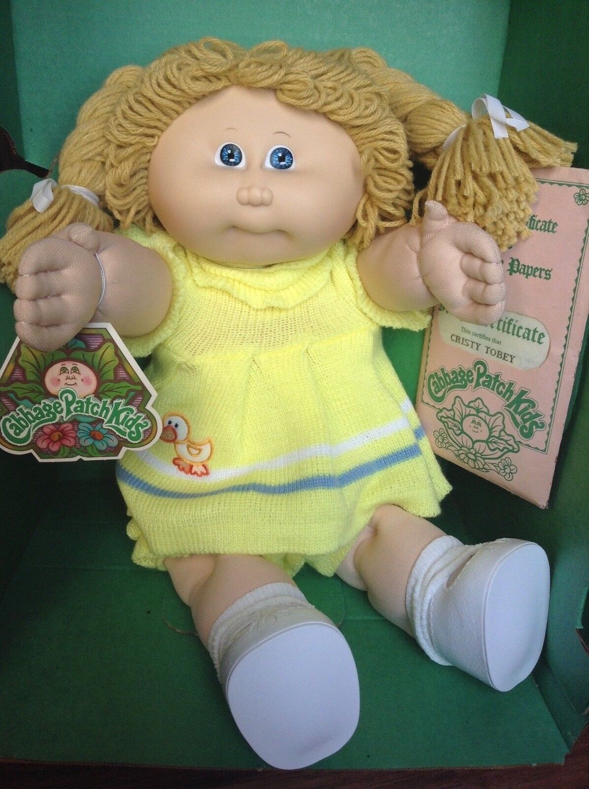 1985 CABBAGE PATCH KIDS 16  doll COLECO in box Cristy Tobey - NEW