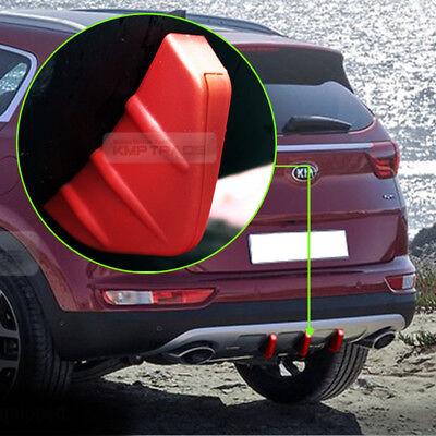 Rear Bumper Diffuser Molding Aero Parts Lip Fin Body Spoiler Chin Red For Scion