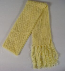 Hand Crocheted Spring Scarf Crochet Yellow Hand Stitched Scarf 60