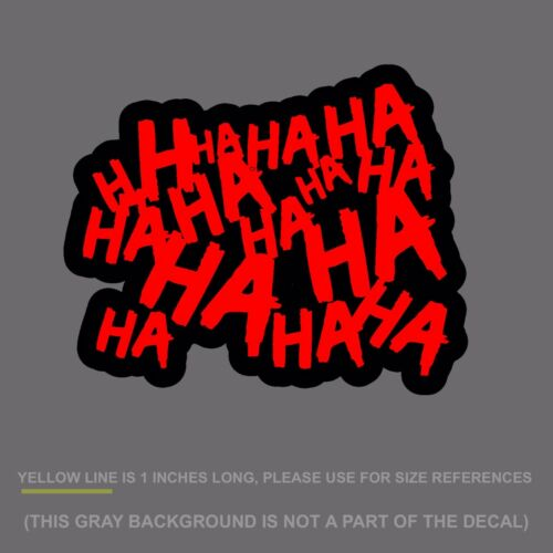"""HAHAsqFCRed8 Haha Sticker Decal Joker Serious Evil Body Window Car Red 8/"""""""