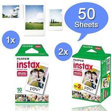 Fuji Instax White 50 instant Film For Fujifilm Mini 8 70 90 50s 25 7s 300 SP-1