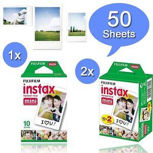 Fuji-Instax-White-50-instant-Film-For-Fujifilm-Mini-8-70-90-50s-25-7s-300-SP-1