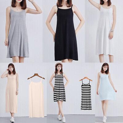 Trendy Ladies Modal Casual Camisole Under Dress Underdress Petticoat Size M//L//XL