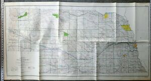 Details about Vintage Large Nebraska Topographic Map US Geological Survey  1965