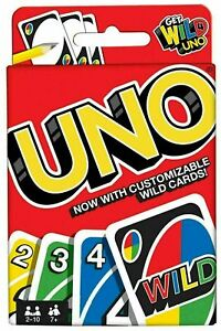 🎅 UNO CARD GAME With WILD CARDS Matte Latest Version Family Fun Indoor Party UK