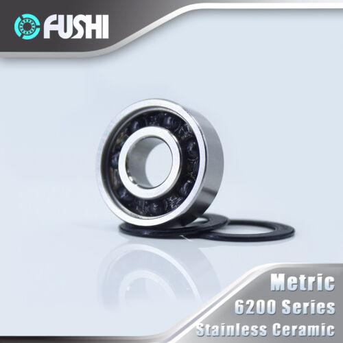1 PC 6202 Hybrid Bearing Bicycle Hub Wheel 440C Ring With Si3N4 Ceramic Ball