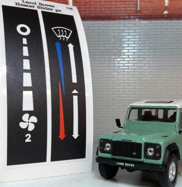 Land Rover Defender Cruscotto Chiesuola Luminoso Stuffa & Controllo Ventola TD5