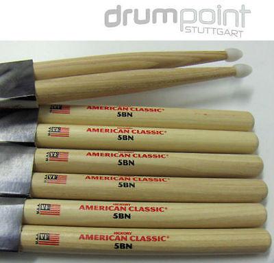 1 Paar Schlagzeugstöcke 5BN Nylontip Hickory Sticks