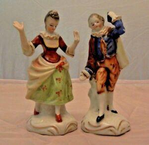 Vintage 40s Occupied Japan Dancing Victorian Couple Figurines Ebay