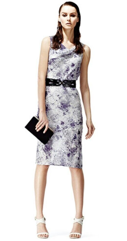 Designer REISS Natasia Seda Vestido Talla  6 -- nuevo -- 100% Seda Largo Hasta La Rodilla  hasta 60% de descuento