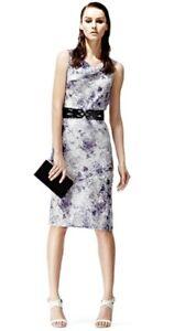 100 Silk Size Reiss 6 Designer Dress New Natasia Length Knee Brand wBH88Sqx