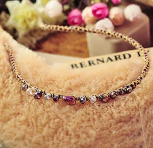 1pcs Fashion Women Girls Rhinestone Crystal Headband Delicate Glitter Hair Band