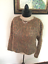 80-s-Vintage-Brown-Corded-Mohair-Cropped-Sweater thumbnail 2
