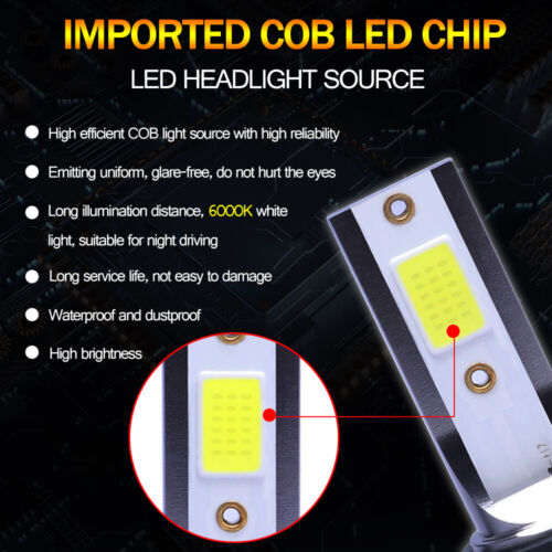 MINI 9005 HB3 H10 LED Headlight Bulb High Beam Fog Lamp 6000K Light 110W 30000LM