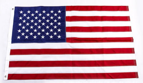 3/'x5/' American Flag FT USA US U.S Sewn Stripes Embroidered Stars Brass Grommets