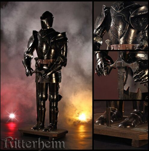 Noir Armure chevalier medievale épée 103cm