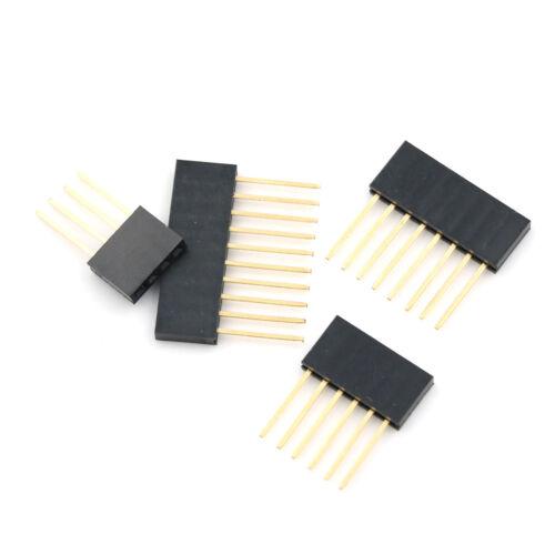 10pcs 2.54 mm Stackable Long Legs Femal Header For Arduino Shield FBHK