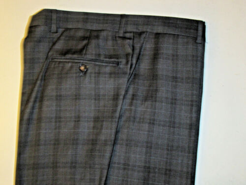 $1295 new Jos A Bank Signature Gold Grey plaid pane suit 40 L 34 W tailored fit
