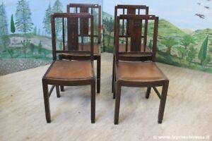 Sedie Depoca : Set di quattro sedie depoca rovere sedia anni 40 x tavolo da