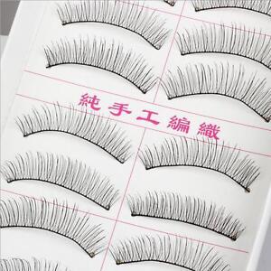 New-10-Pairs-Black-False-Eyelashes-Handmade-Long-Thick-Natural-Fake-Eye-Lashes