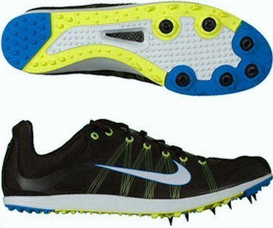 NIKE Zoom Victory XC Cross Country Black bluee Track Spikes Spikes Spikes shoes NEW Mens Sz 4 a72db1