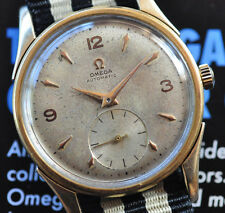 Vintage 1951 Omega Watch Bumper Automatic Caliber 342 Patina Dial Service Runs +