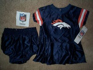 quality design 93b35 65f6d Details about Denver Broncos nfl Cheerleader Jersey INFANT BABY NEWBORN  Jersey 3-6M 3-6 Months