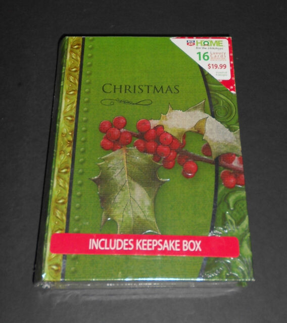 Rite Aid Christmas Cards.Rite Aid 16 Luxury Christmas Cards In Keepsake Box Home For The Holidays