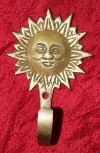 Солнце дизайн настенный ковер крючок для рукоделия латунь античный стиль ткань настенные deccj 176