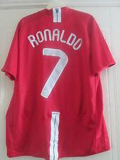 Manchester United 2007-2009 Home Ronaldo 7 Football Shirt Large Adult /40612