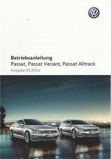 VW PASSAT + PASSAT VARIANT B8 2016 Betriebsanleitung Bedienungsanleitung BA