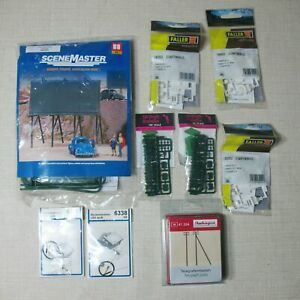 AUHAGEN-VIESSMANN-FALLER-WALTHERS-SCENE-MASTER-LOT-OF-9-HO-KITS-AND-PIECES-BP