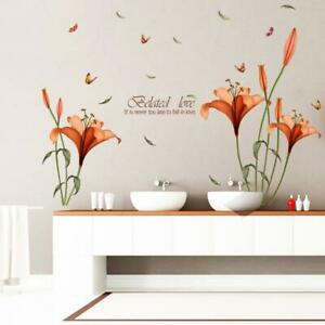 Details About 120 175cm Flower Wall Stickers Removable Decal Bedroom Decor Diy Art Decoration