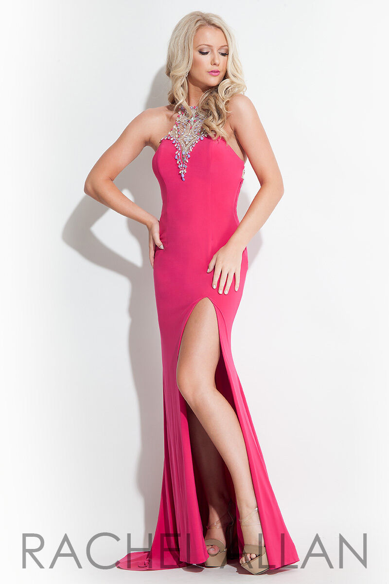 Authentic Rachel Allen 2043 Dress--color  Fuchsia--Size  10-Prom Dress