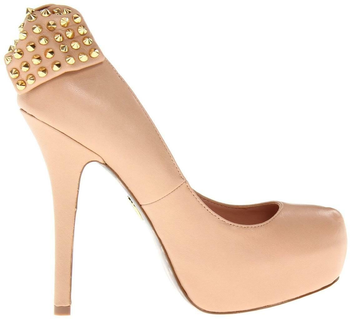 Women's shoes Betsey Johnson Nickie Platform Pumps Heels Nude Leather