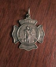 New 0.925 Sterling Silver Saint St Florian Firefighter Pendant Charm Necklace