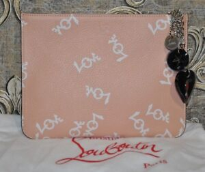 0a985304ada Details about Authentic New Women's Christian Louboutin Loubicute Small  Pouch, 18W
