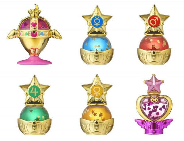 Bishoujo Senshi Sailor Moon prism power dome water globes globe gashapon Set x 6