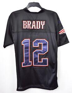 online retailer 83128 9d2f2 Details about NEW ENGLAND PATRIOTS stitched Jersey TOM BRADY #12 Mens 40  Shirt NFL Black M NE