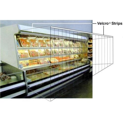 """Strip Curtain for Upright Refrigerated Display Case Size 48/""""W x 68/""""H"""