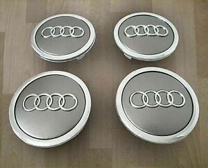 fuer-Audi-69mm-grau-Auto-Nabenkappen-Nabendeckel-Felgendeckel