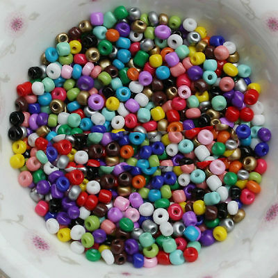 New 1000pcs Cezch Glass Seed Beads Jewelry Finding Spacer Beads Solid DIY Bead