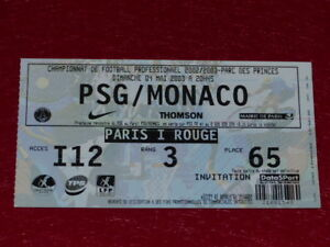COLLECTION-SPORT-FOOTBALL-TICKET-PSG-MONACO-4-MAI-2003-Champ-France