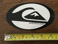 Quiksilver Sticker - Black and Clear Oval - VINTAGE